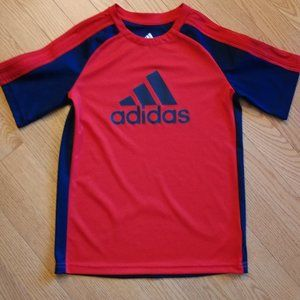 Adidas shirt child 7 Red Navy Air flow like new